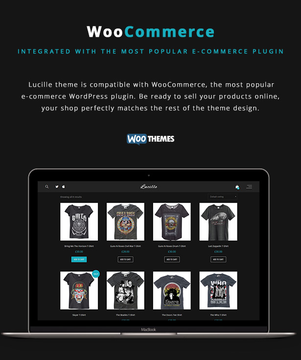 Lucille Music WordPress Theme - WooCommerce
