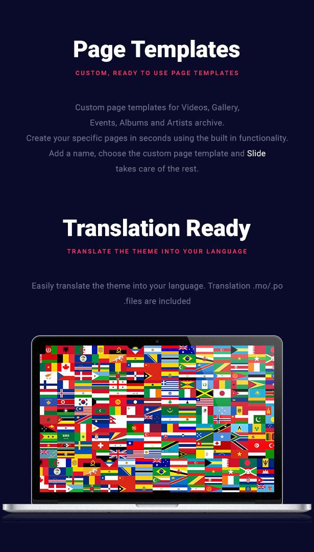 Slide Music WordPress Theme Translation