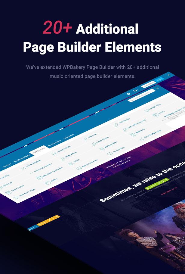 Slide Music WordPress Theme Additional Page Builder Elements