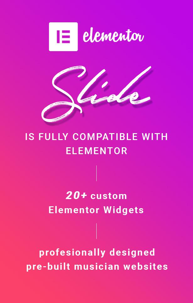 Slide Music WordPress Theme Elementor Compatible and Widgets