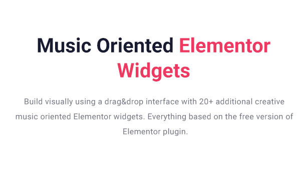 Slide Music WordPress Theme Elementor Musician Widgets