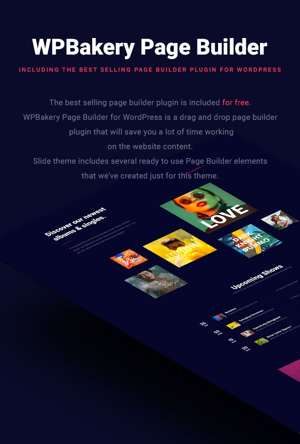 Slide Music WordPress Theme Page Builder