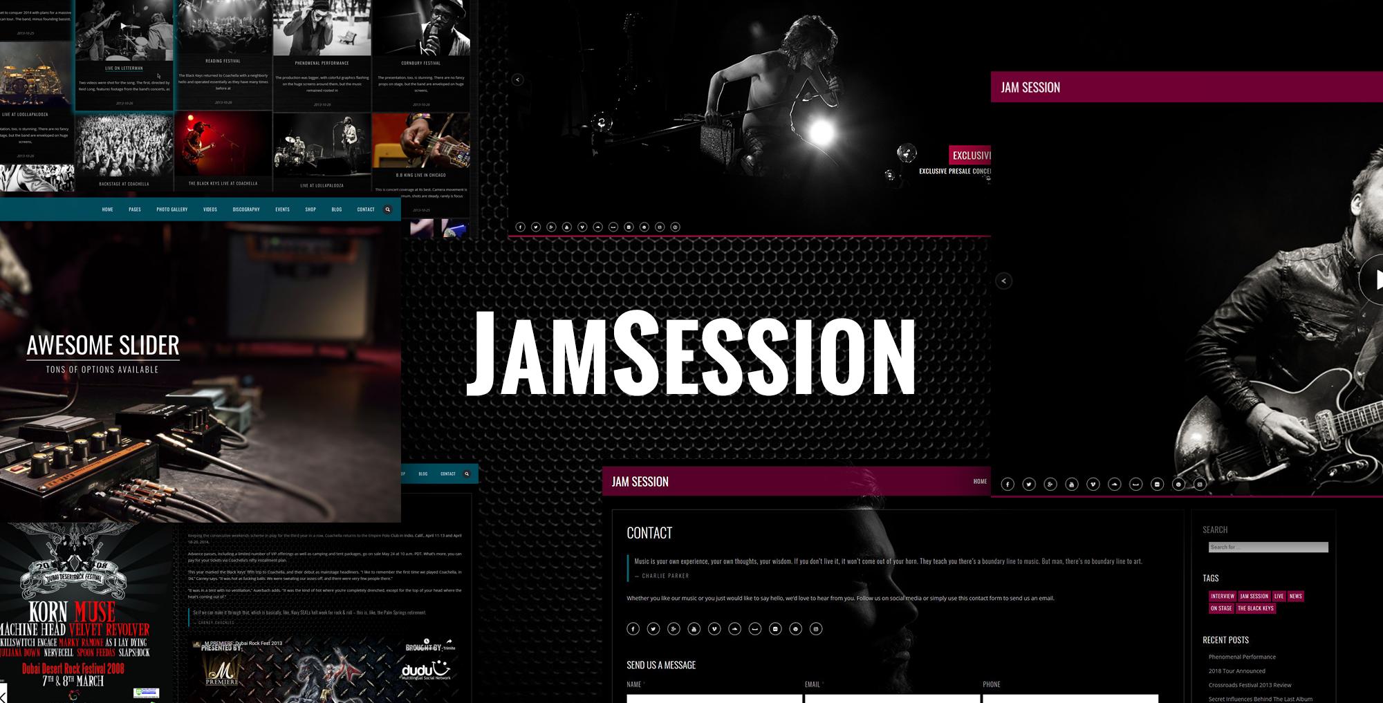 JamSession – Music WordPress Theme