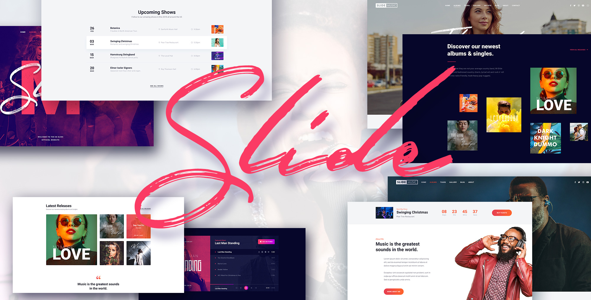Slide – Modern Music WordPress Theme